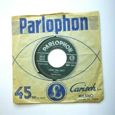 """The Beatles  - Long Tall Sally  -  7""""  Parlophon  Qmsp 16381  Italia  1965 First"""