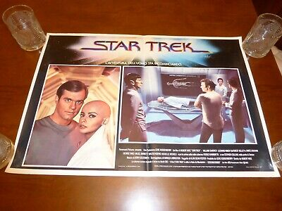 Star Trek The Motion Picture original Italian 26x18 lobby card poster Ilia Spock