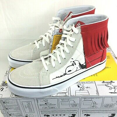 8f6f703d90 Vans X Peanuts SK8 Hi Moc Shoes Women s 5 Snoopy Dog House Bone White Red