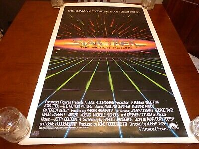 Star Trek The Motion Picture Original Advance one-sheet foil letters poster