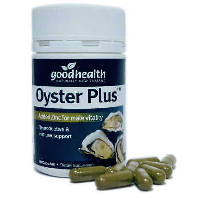 Good Health Oyster Plus Capsules 60- Added Zinc Male Vitality & immune support