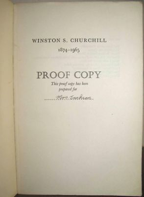 Randolph S. Churchill - Official Biography, Volume I, proof copy