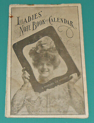 Vintage 1902 Dr Pierce LADIES NOTE BOOK CALENDAR Sexy Woman Victorian Health