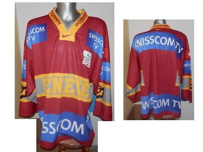 HC Servette Geneve Swiss Ice Hockey Shirt Eishockey JERSEY MAGLIA senior size XL