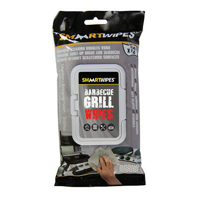 SMAART Barbecue Grill Cleaning Wipes 12pk Supplied in re-sealable soft pack