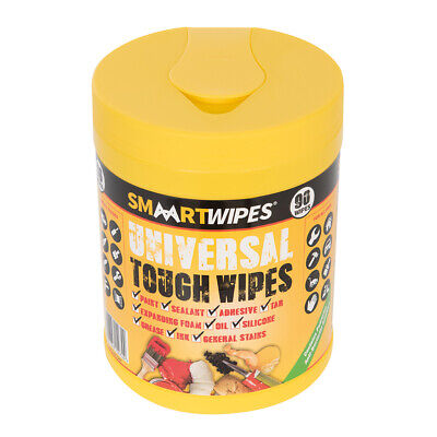 SMAART Universal Tough Wipes 90pk Tub Easily removes paint tar ink adhesives
