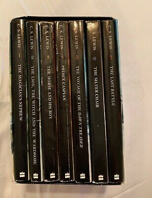 CHRONICLES OF NARNIA Box Set with 7 Books C. S. Lewis Softcover