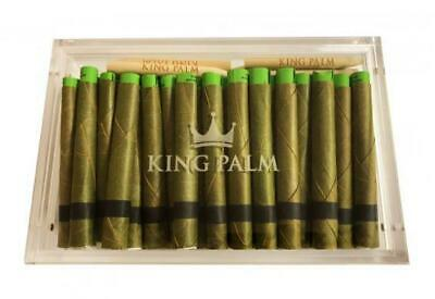 70 x King Palm Leaf Pre Rolls (KING Size) Humidor + 15 Packing Sticks