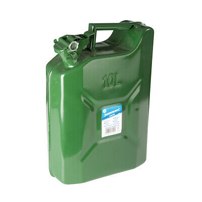 Silverline Jerry Can 10Ltr Includes integrated carry handle and lid locking pin
