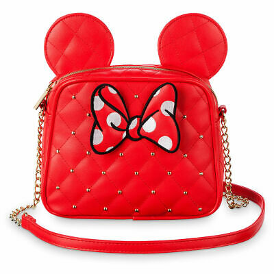 Disney Store Minnie Mouse Ears Fashion Bag Purse Tote Girls Red Faux Leather