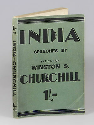 Winston S. Churchill - India, first British edition, second printing, wraps