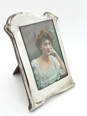 Art Deco Hallmarked Sterling Silver Frame 1925 w Vintage Postcard Grace Lane