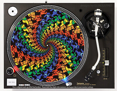 GRATEFUL DEAD DANCING BEARS - DJ SLIPMAT 1200's or any turntable, record player