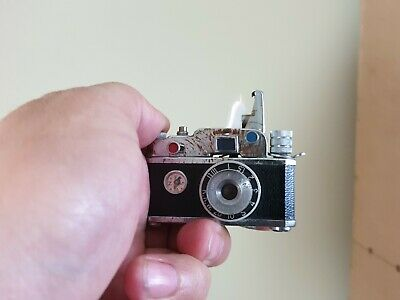 Vintage Peace Petrol Camera Lighter -- KKW PP 13449 MAde In Japan Very Rare