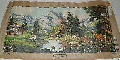Margot Creation de Paris Needlepoint tapestry painted canvas -En Montagne