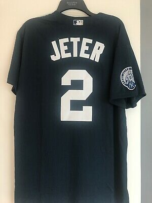 purchase cheap a694c 55e05 DEREK JETER #2 Jersey New York Yankees Size XL Navy Blue