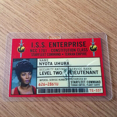 Star Trek Classic Id Badge-Mirror Specchio Iss Enterprise Nyota a Uhura