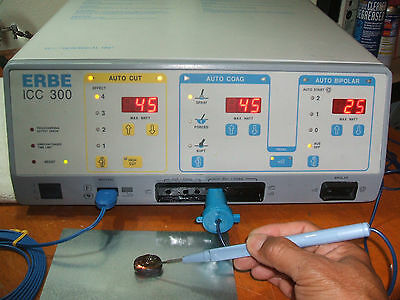 Erbe ICC 300 Electrosurgical Unit w/ Acc's,Pt. Ready,Nice/Clean/Excellent Cond'n
