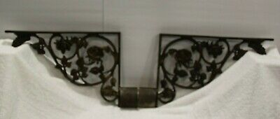 Pair Antique Victorian Architectural Salvage Cast Iron Corbel Spandrel Brackets
