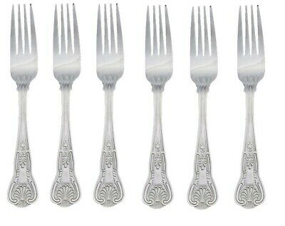 6 X Kings Pattern Dinner Forks Quality Parish Design Large Table Cutlery 1B