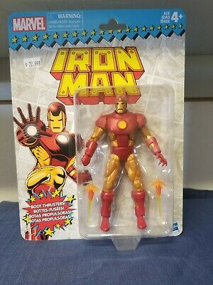 Marvel Legends Vintage Series Iron Man Action Figure Retro Avengers In Stock MIB