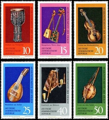 EBS East Germany DDR 1971 Musical Instruments Museum Michel 1708-1713 MNH**