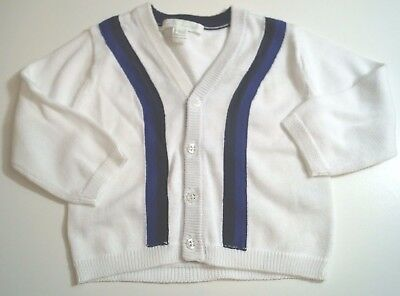 MARIE CHANTAL Baby 100% Cotton Off White Cardigan Top Age: 6 Months - Worn Once