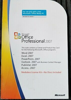 product key for excel 2007