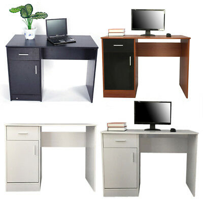 Portable Computer Desk Office Laptop PC Study Table with Drawer Shelves 3 Colors