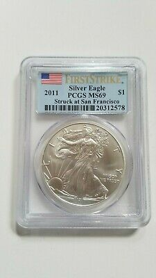 PCGS MS69 2011 Silver Eagle First Strike