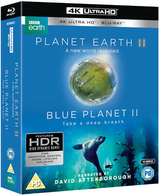 Planet Earth II & Blue Planet II Box set - (4K Ultra HD Blu-ray) *BRAND NEW*