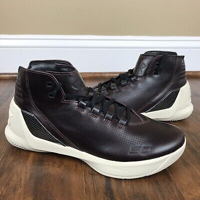 purchase cheap 30648 a6e26 NEW UNDER ARMOUR UA CURRY 3 LUX Mens Leather Shoes ...