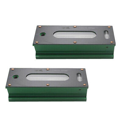 2x Precision Bar Level Tool with Case 0.02mm High Accuracy Sensitivity 100mm