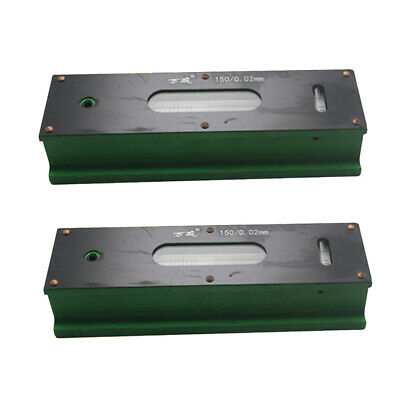 2x Precision Bar Level Tool with Case 0.02mm High Accuracy Sensitivity 150mm