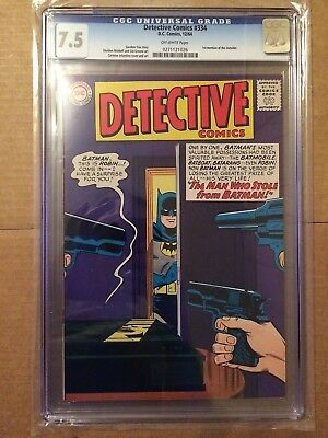 CGC 7.5 Detective Comics #334 *Off-White*1st Outsider*1964*
