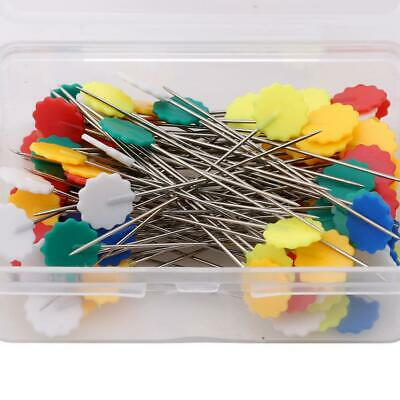 100X Patchwork Pins Flower Button Head Pins Quilting Tool Sewing Accessories FW