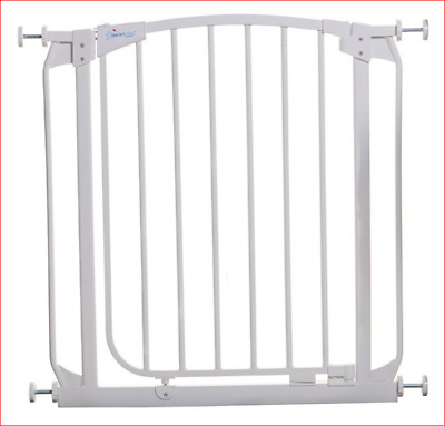 Dream Baby Chelsea Security Gate | Standard Height 75cm | White | Free Extension