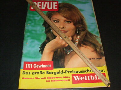 "Sophia Loren … on cover … german magazine ""REVUE"" … 1961 (b)"