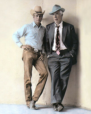 """Paul Newman Lee Marvin Pocket Money 1972 Actors 8X10"""" Hand Color Tinted Photo"""