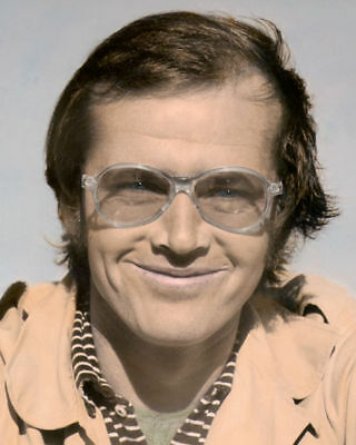 """JACK NICHOLSON HOLLYWOOD ACTOR DIRECTOR PRODUCER 8x10"""" HAND COLOR TINTED PHOTO"""