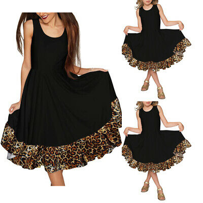 Mommy and Me Family Matching Dress Mother Daughter Leopard  for Kid Women