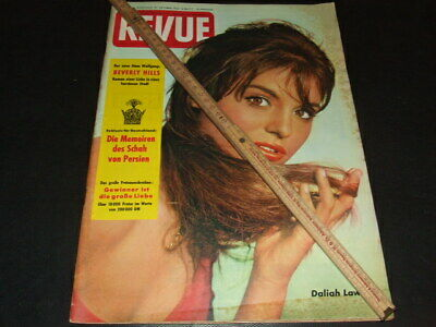 "Daliah Lawie (Lavi) … on cover … 1960 … german magazine ""REVUE"""