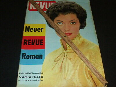 "Nadja Tiller … on cover … 1960 … german magazine ""REVUE"""