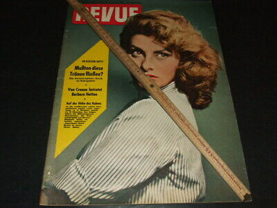 "Sophia Loren … on cover … 1955 … german magazine ""REVUE"""