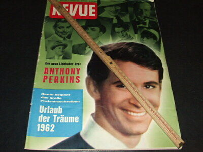 "Anthony Perkins … on cover … 1962 … german magazine ""REVUE"""