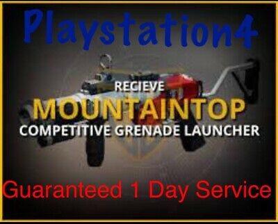 Destiny 2 Mountaintop Ps4 In 1 DAY