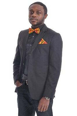 Kente African Print Bow tie with Pocket scarf One Size DP3227B
