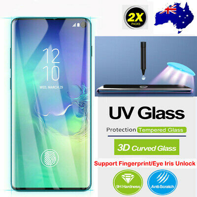 For Samsung Galaxy S10 5G S10+ Full UV 9H Tempered Glass Screen Protector AU