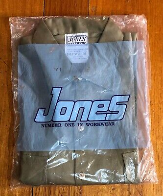Original Retro Vintage Mens Jones Workwear Shirt Board Of Works As New