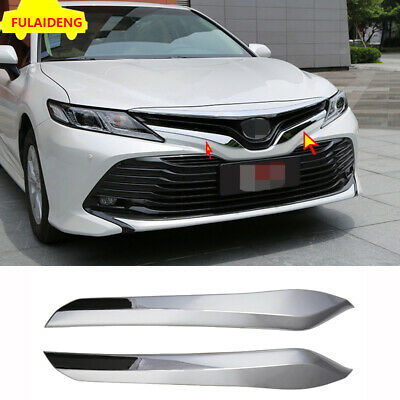 For Toyota New Camry 2018 L//LE//XLE Chrome Front Bumper Guard Cover Trim